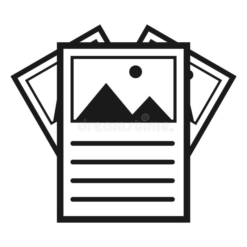 Flyer, brochure modern symbol. Vector icon isolated on white background for website, app, mobil etc stock illustration