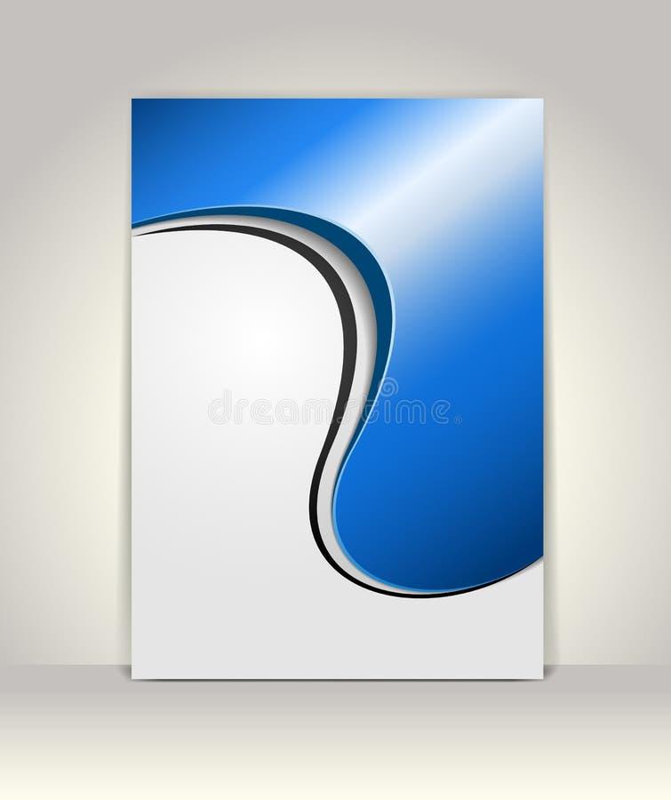 Flyer or brochure template stock illustration