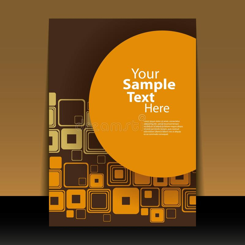 Download Flyer or Cover Design stock vector. Image of design, brown - 21297718