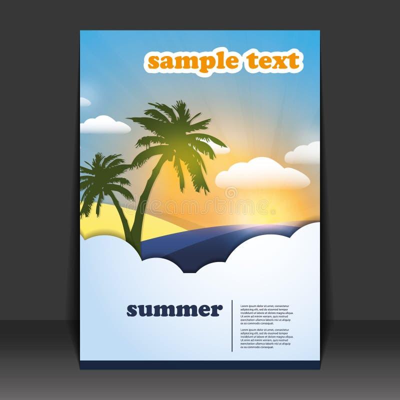 Flyer or Cover Design stock illustration