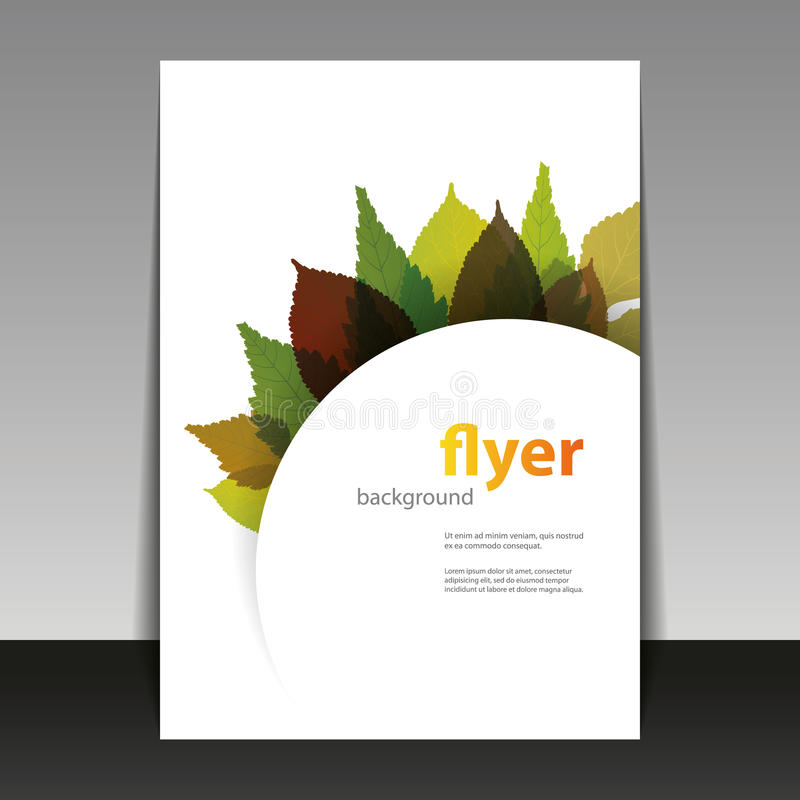 Download Flyer Or Cover Design   Autumn Leaves Stock Vector   Illustration  Of Gold, Flyer  Editable Leaf Template