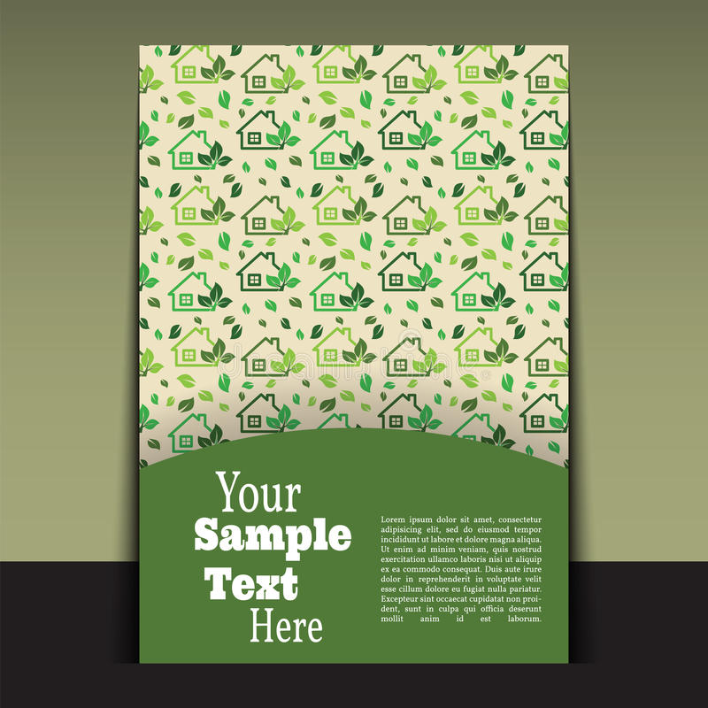 Flyer or cover design green house. stock illustration
