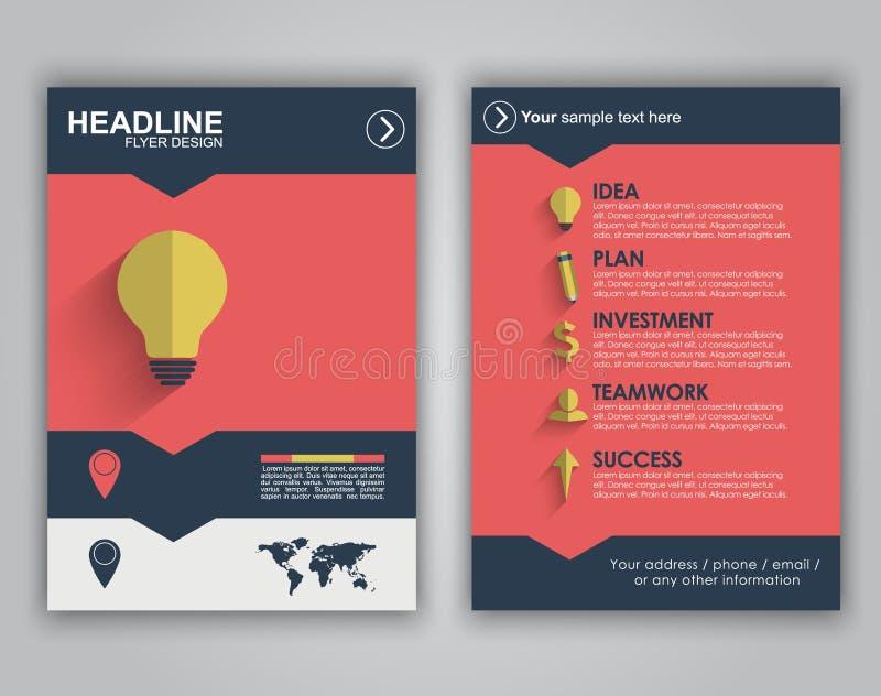 Flyer Design For Advertising Stock Vector