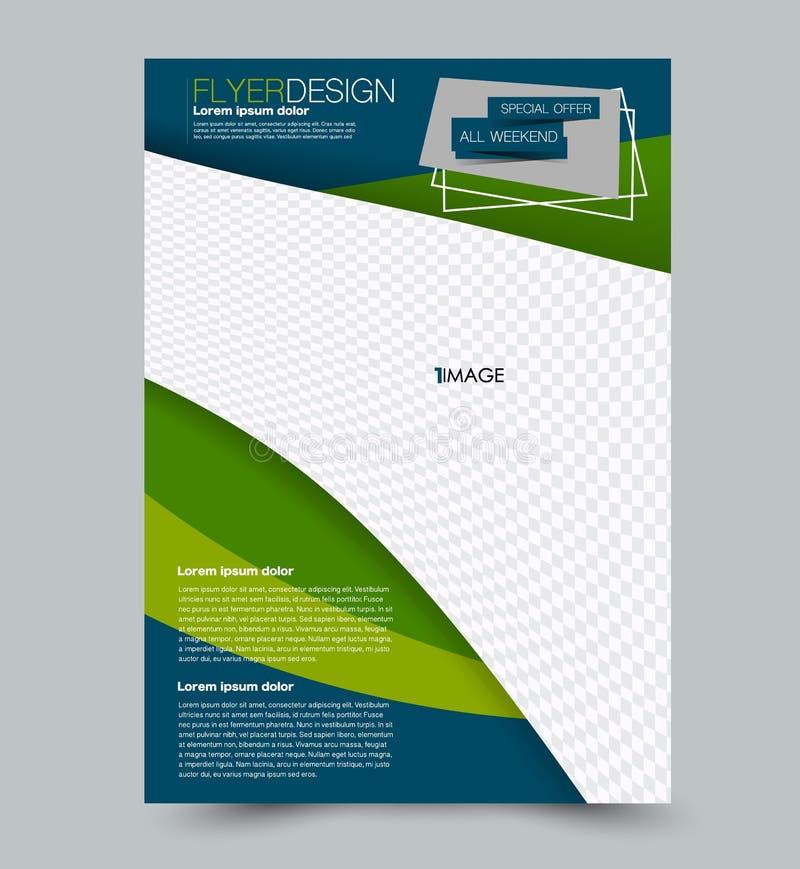 Flyer design background. Brochure template. stock illustration
