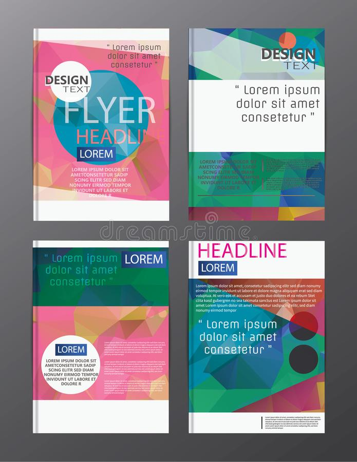 Flyer design business annual report brochure template. cover presentation abstract background for business, magazines,. Eps.10 vector illustration