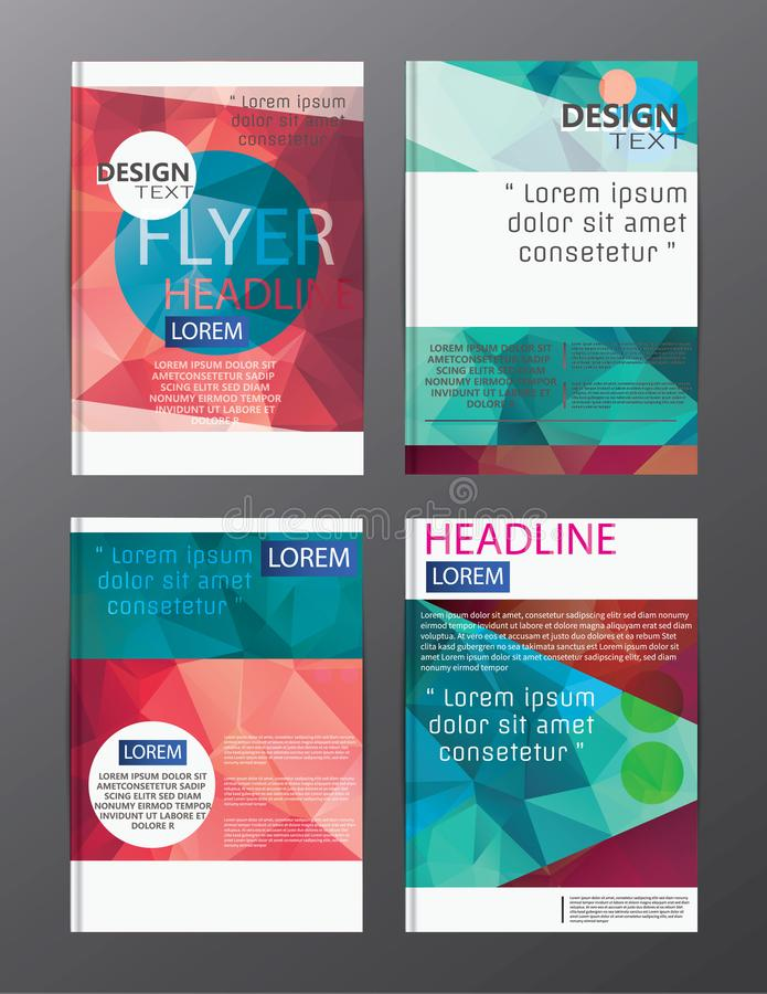 Flyer design business annual report brochure template. cover presentation abstract background for business, magazines, royalty free illustration