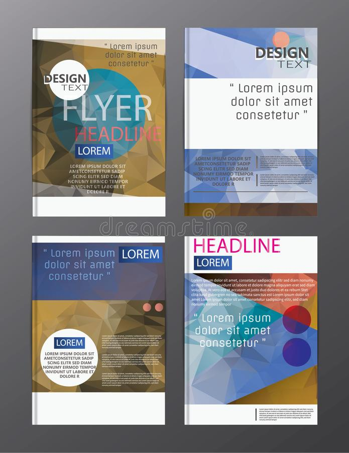 Flyer design business annual report brochure template. cover presentation abstract background for business, magazines, stock illustration