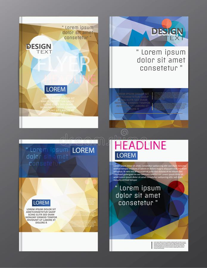Flyer design business annual report brochure template. cover presentation abstract background for business, magazines, vector illustration