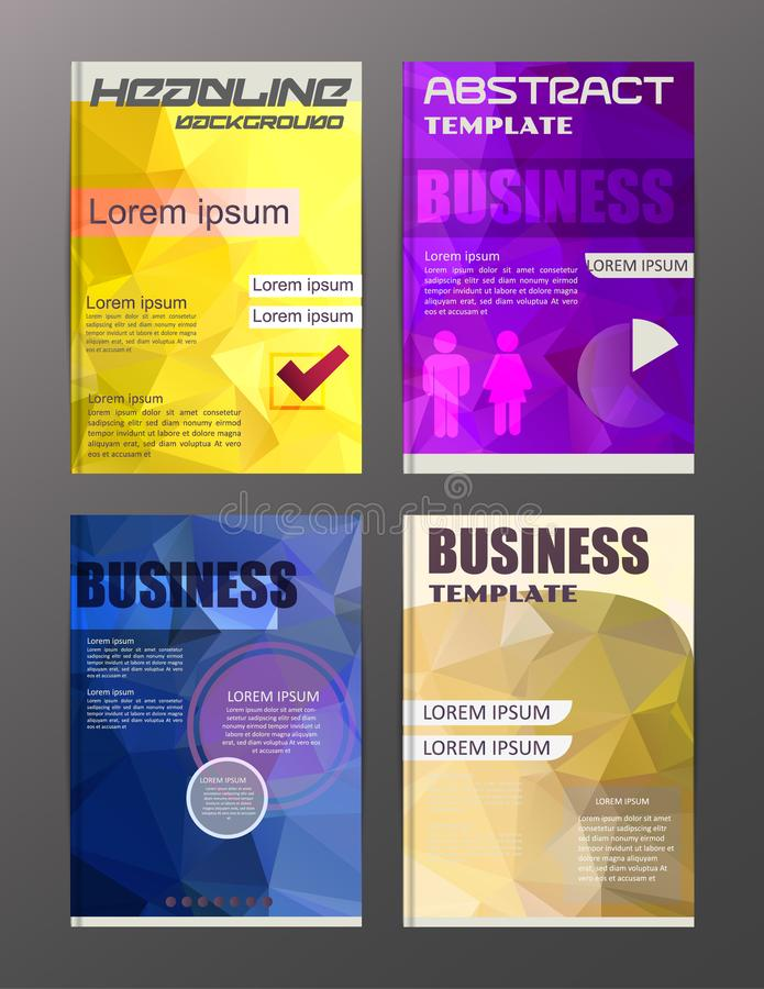 Flyer design business and technology icons, creative template d vector illustration