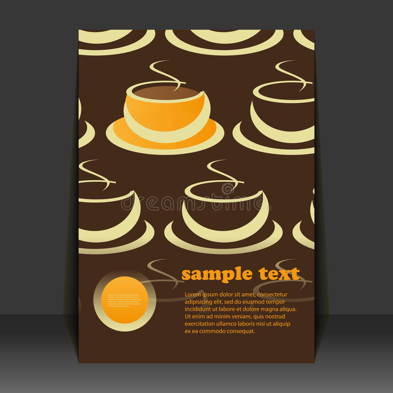 Flyer Design Coffee Cups Stock Vector Illustration Of File 37190507