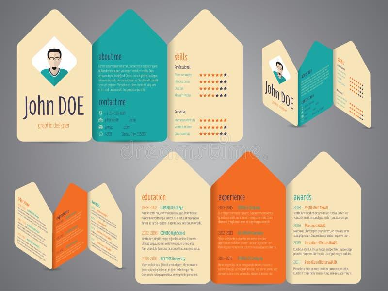 flyer design cv resume template stock vector