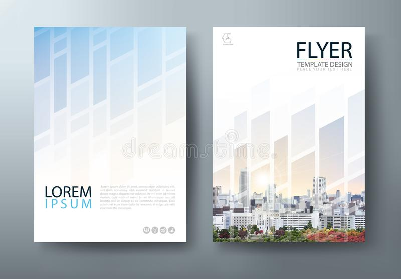 Flyer design, Leaflet cover presentation, book cover template vector, layout in A4 size. stock illustration
