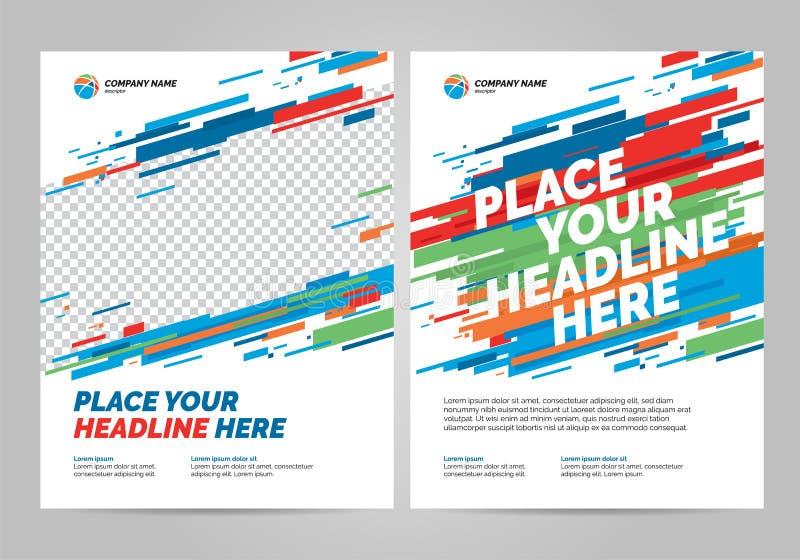 Brochure Layout templat design stock illustration