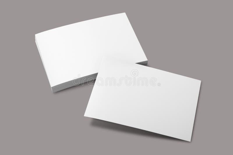 Flyer. Mockup white blank card mock up royalty free stock photo