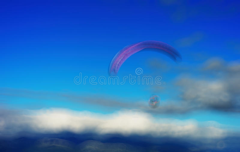 Flyer with flying kite bokeh background. Hd stock image