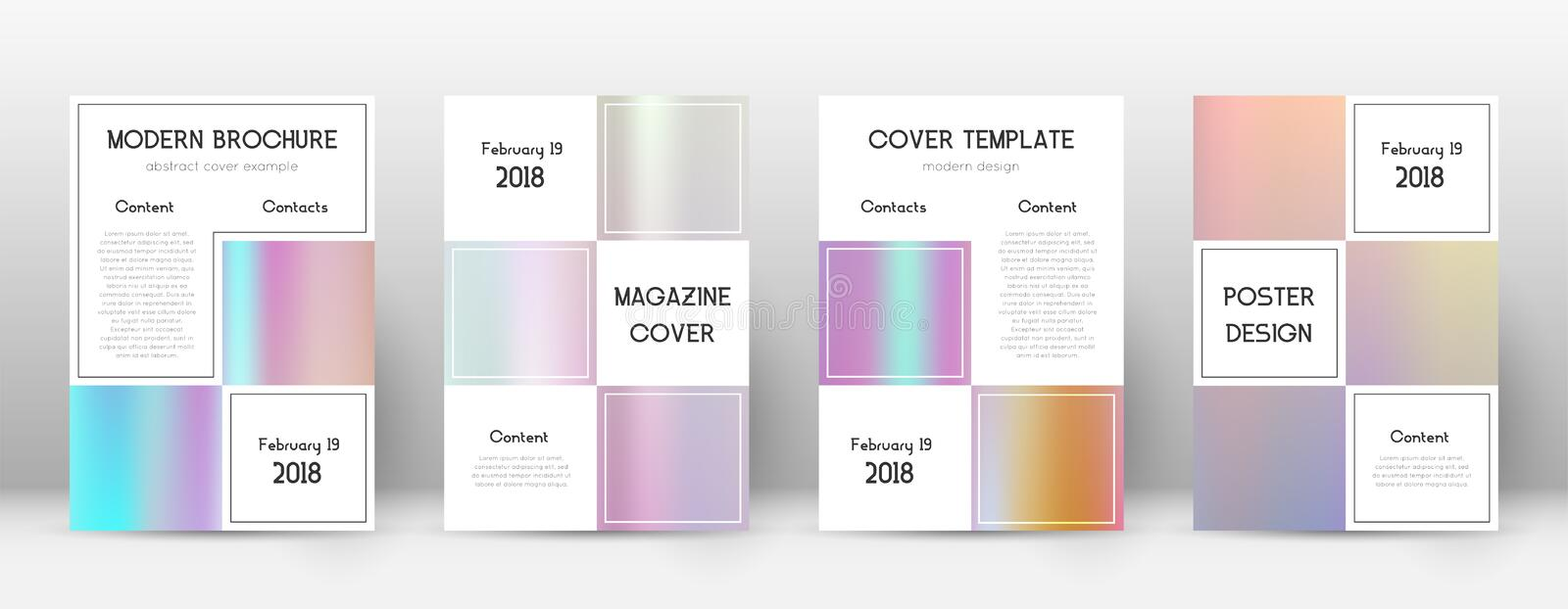 Flyer layout. Business amazing template for Brochu stock illustration