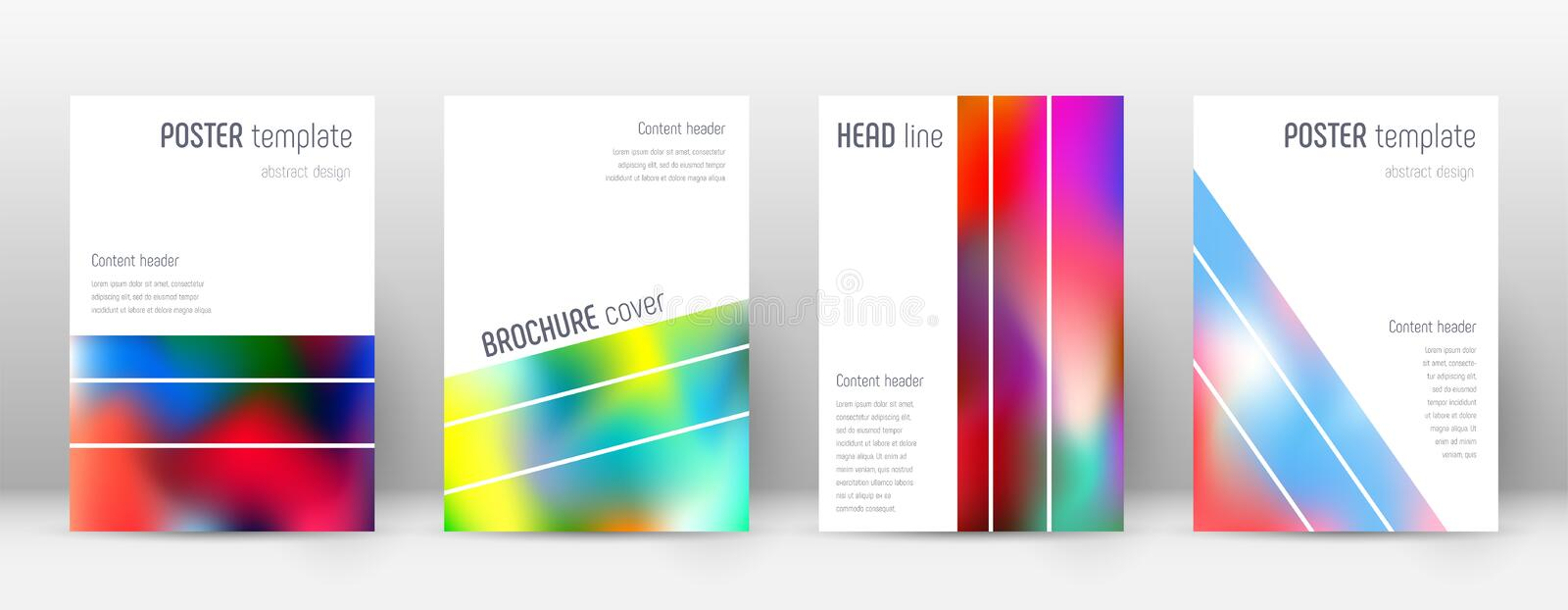Flyer layout. Geometric beauteous template for Brochure, Annual Report, Magazine, Poster, Corporate Presentation, Portfolio, Flyer. Alluring colorful cover stock illustration