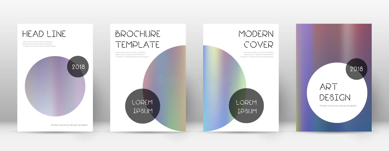 Flyer layout. Trendy emotional template for Brochure, Annual Report, Magazine, Poster, Corporate Presentation, Portfolio, Flyer. Beauteous bright hologram royalty free illustration