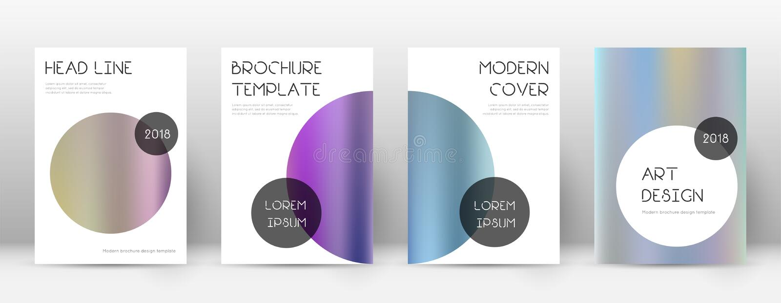 Flyer layout. Trendy exceptional template for Brochure, Annual Report, Magazine, Poster, Corporate Presentation, Portfolio, Flyer. Beauteous color gradients stock illustration