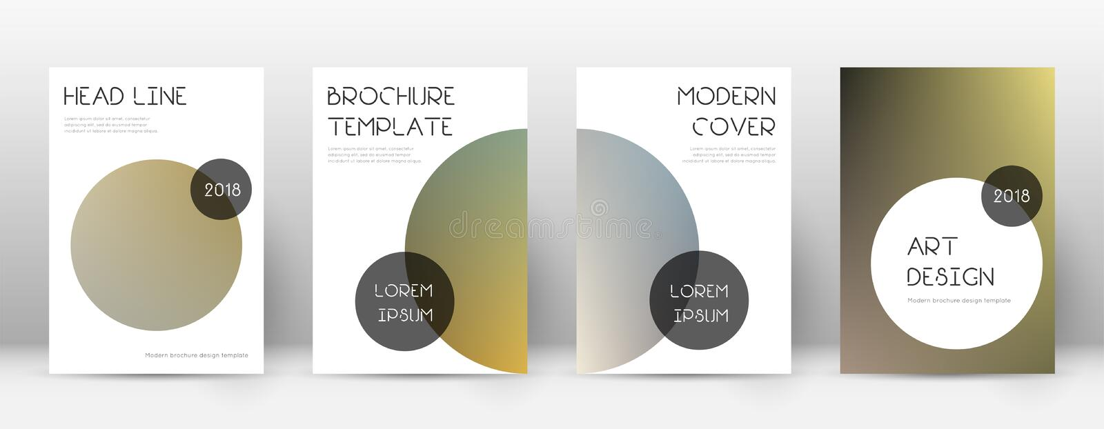 Flyer layout. Trendy overwhelming template for Brochure, Annual Report, Magazine, Poster, Corporate Presentation, Portfolio, Flyer. Beauteous color transition stock illustration