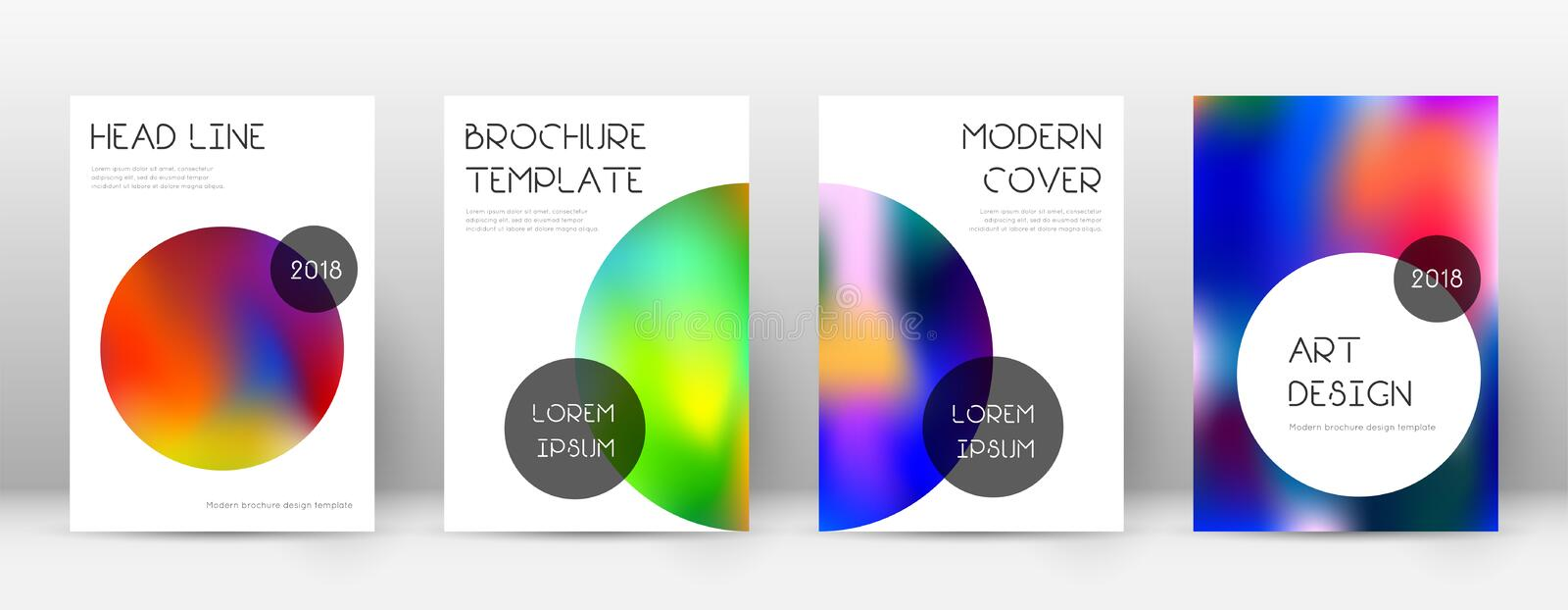Flyer layout. Trendy popular template for Brochure, Annual Report, Magazine, Poster, Corporate Presentation, Portfolio, Flyer. Beauteous colorful cover page stock illustration