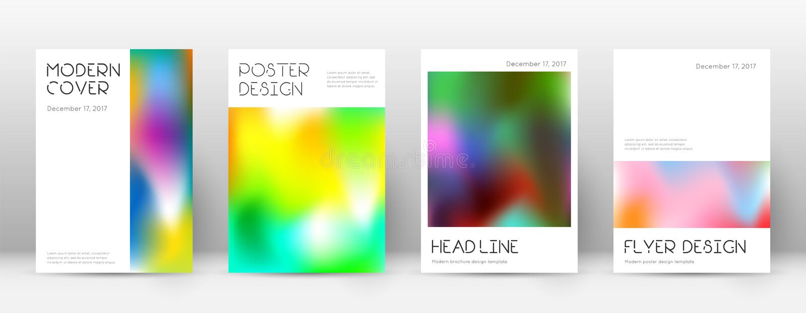 Flyer layout. Minimal exquisite template for Broch. Ure, Annual Report, Magazine, Poster, Corporate Presentation, Portfolio, Flyer. Appealing colorful cover page royalty free illustration