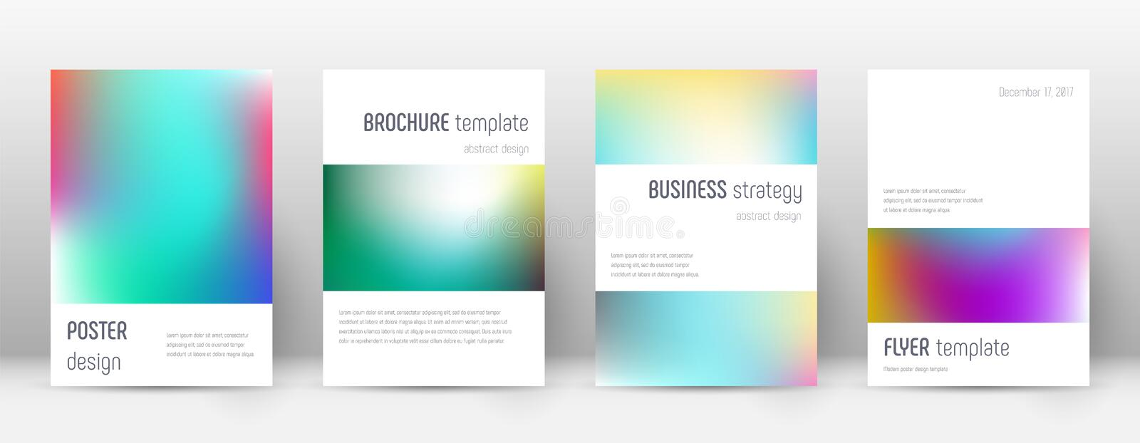 Flyer layout. Minimalistic beauteous template for Brochure, Annual Report, Magazine, Poster, Corporate Presentation, Portfolio, Flyer. Artistic bright cover stock illustration