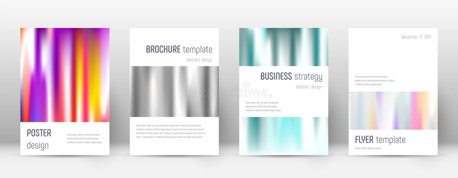 Flyer layout. Minimalistic exquisite template for. Brochure, Annual Report, Magazine, Poster, Corporate Presentation, Portfolio, Flyer. Astonishing lines cover vector illustration