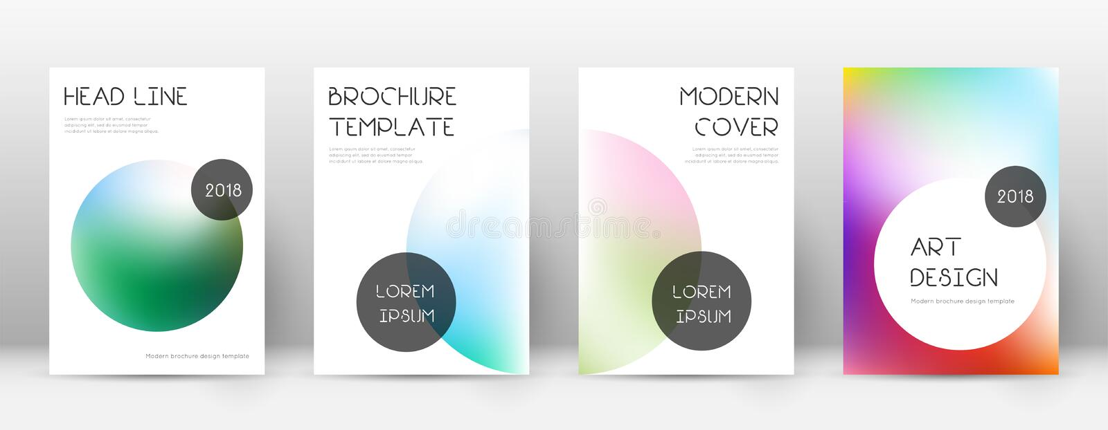 Flyer layout. Trendy artistic template for Brochure, Annual Report, Magazine, Poster, Corporate Presentation, Portfolio, Flyer. Beauteous bright cover page vector illustration