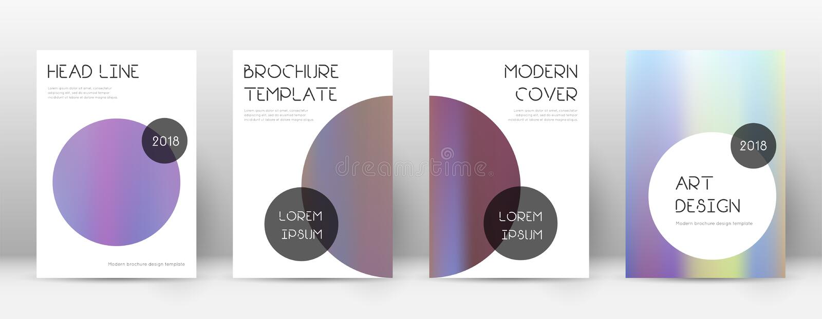Flyer layout. Trendy decent template for Brochure,. Annual Report, Magazine, Poster, Corporate Presentation, Portfolio, Flyer. Beauteous bright hologram cover vector illustration