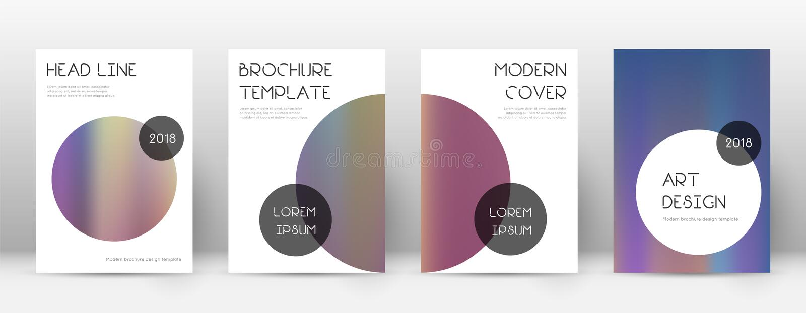 Flyer layout. Trendy ecstatic template for Brochure, Annual Report, Magazine, Poster, Corporate Presentation, Portfolio, Flyer. Beauteous bright hologram cover stock illustration