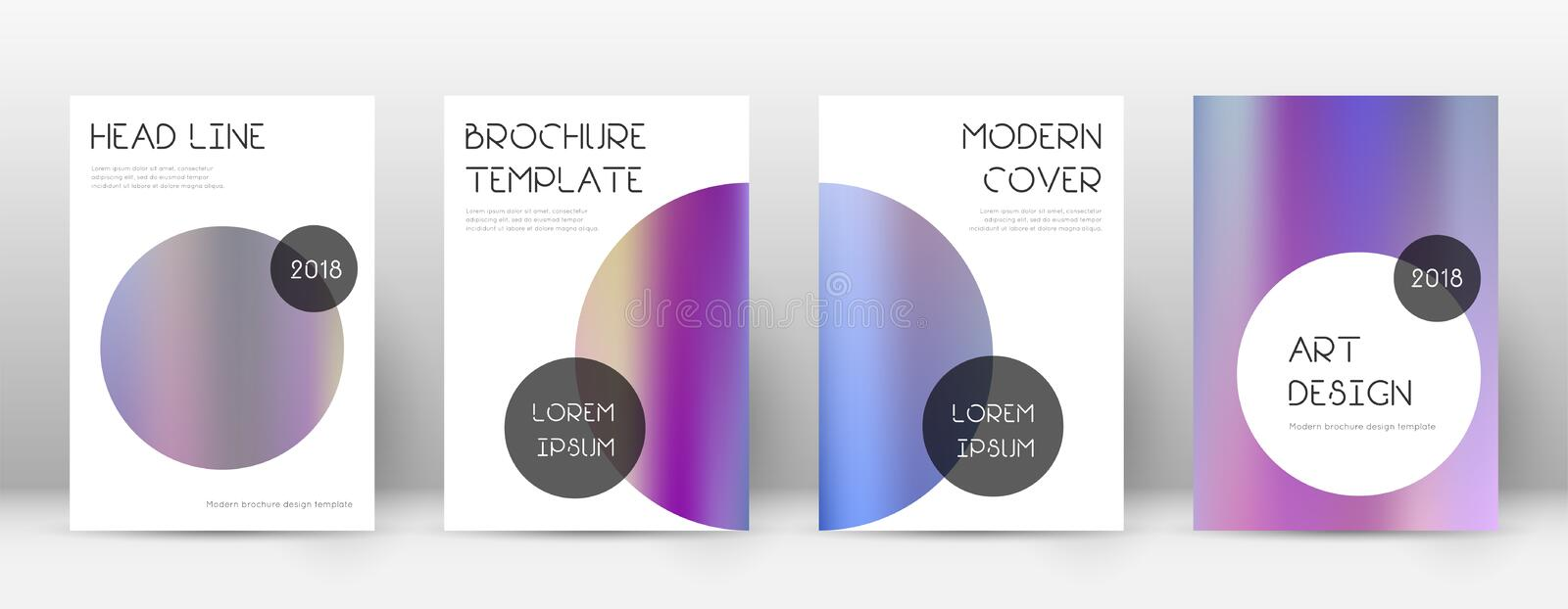 Flyer layout. Trendy energetic template for Brochure, Annual Report, Magazine, Poster, Corporate Presentation, Portfolio, Flyer. Beauteous color gradients vector illustration