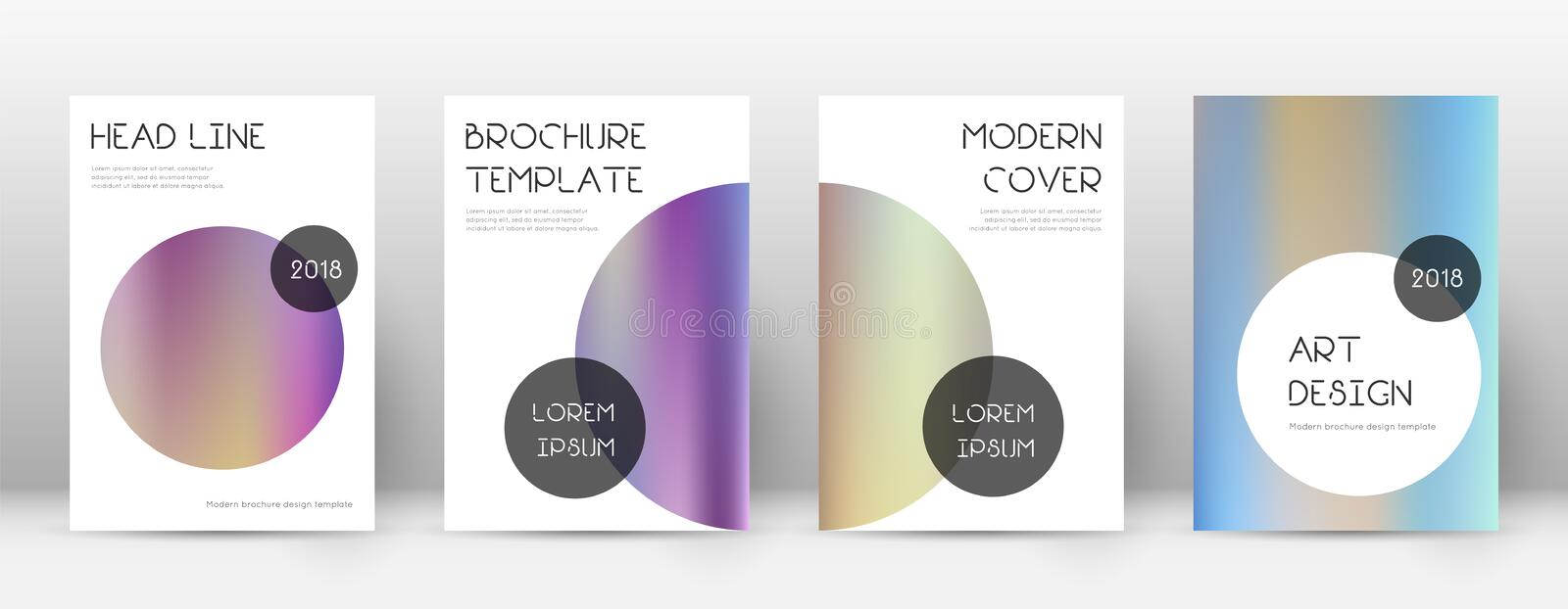 Flyer layout. Trendy fancy template for Brochure, Annual Report, Magazine, Poster, Corporate Presentation, Portfolio, Flyer. Beauteous color gradients cover stock illustration