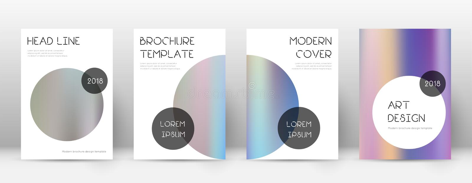 Flyer layout. Trendy glamorous template for Brochure, Annual Report, Magazine, Poster, Corporate Presentation, Portfolio, Flyer. Beauteous color gradients vector illustration