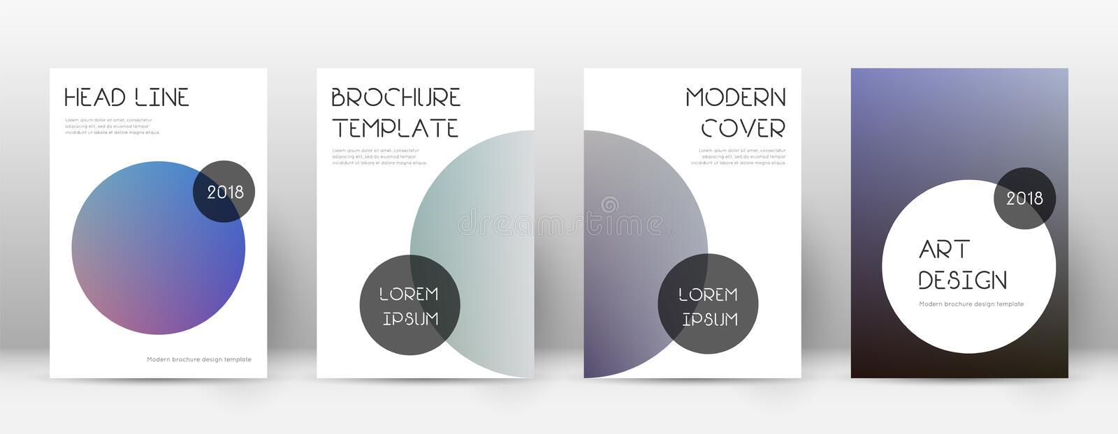 Flyer layout. Trendy immaculate template for Brochure, Annual Report, Magazine, Poster, Corporate Presentation, Portfolio, Flyer. Beauteous color transition royalty free illustration