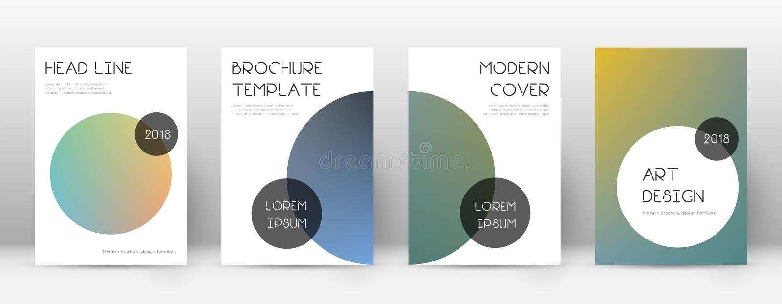 Flyer layout. Trendy likable template for Brochure, Annual Report, Magazine, Poster, Corporate Presentation, Portfolio, Flyer. Beauteous color transition cover royalty free illustration