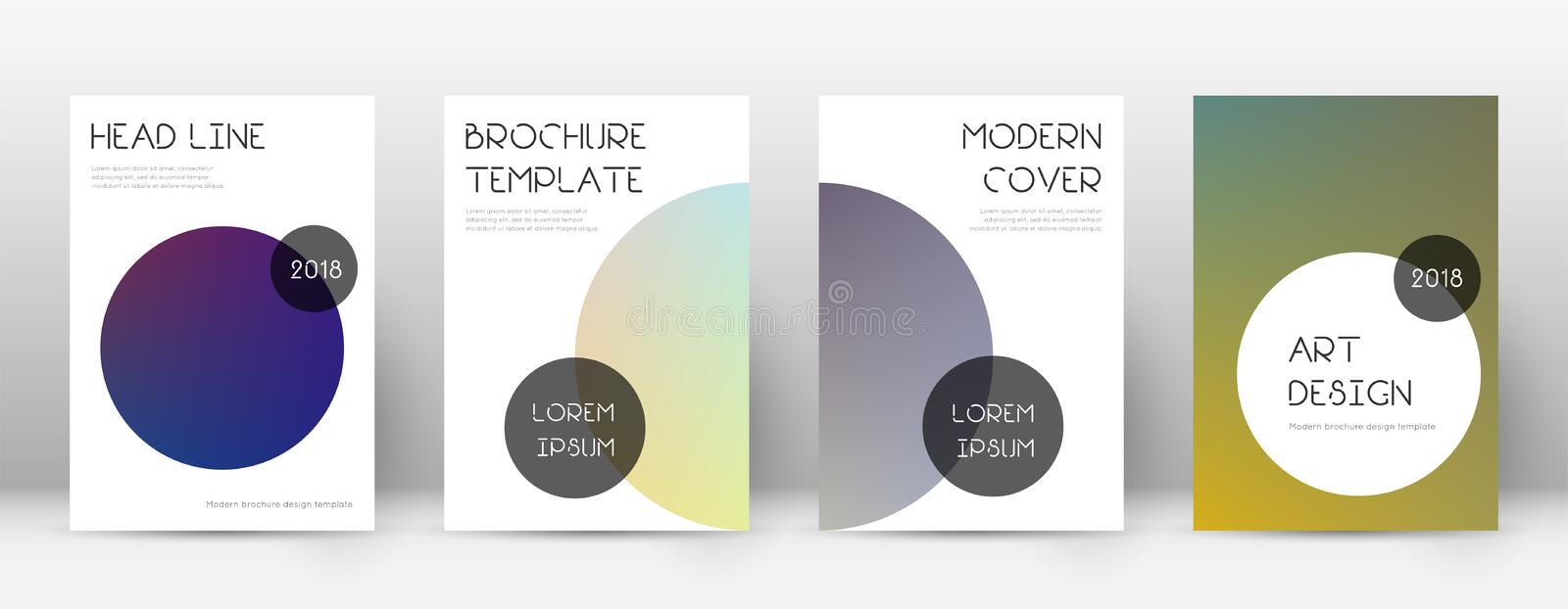 Flyer layout. Trendy lovely template for Brochure, Annual Report, Magazine, Poster, Corporate Presentation, Portfolio, Flyer. Beauteous color transition cover royalty free illustration