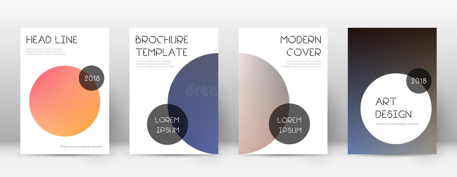 Flyer layout. Trendy marvelous template for Brochure, Annual Report, Magazine, Poster, Corporate Presentation, Portfolio, Flyer. Beauteous color transition vector illustration