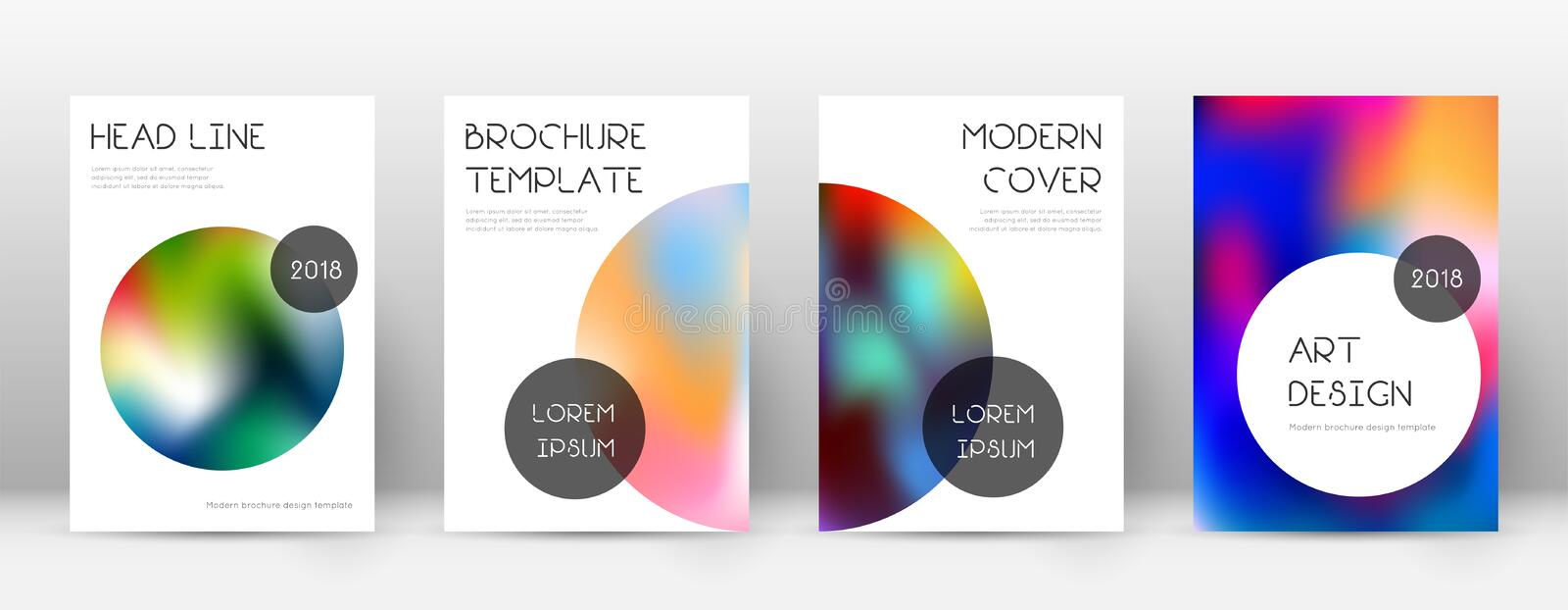Flyer layout. Trendy powerful template for Brochure, Annual Report, Magazine, Poster, Corporate Presentation, Portfolio, Flyer. Beauteous colorful cover page royalty free illustration
