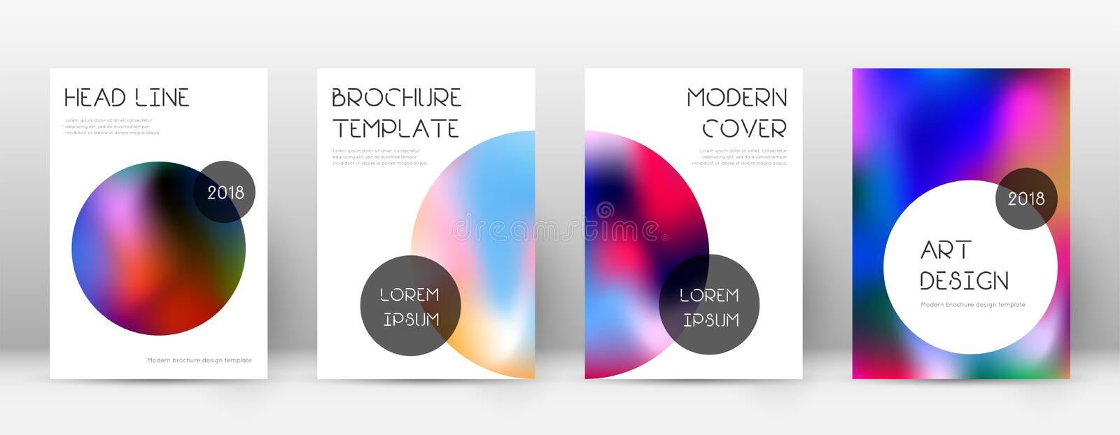 Flyer layout. Trendy tempting template for Brochure, Annual Report, Magazine, Poster, Corporate Presentation, Portfolio, Flyer. Beauteous colorful cover page vector illustration