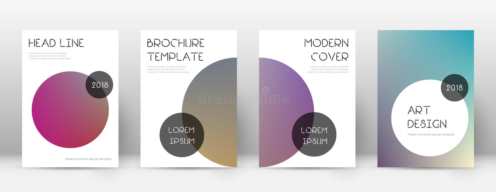 Flyer layout. Trendy trending template for Brochure, Annual Report, Magazine, Poster, Corporate Presentation, Portfolio, Flyer. Beauteous gradient cover page royalty free illustration