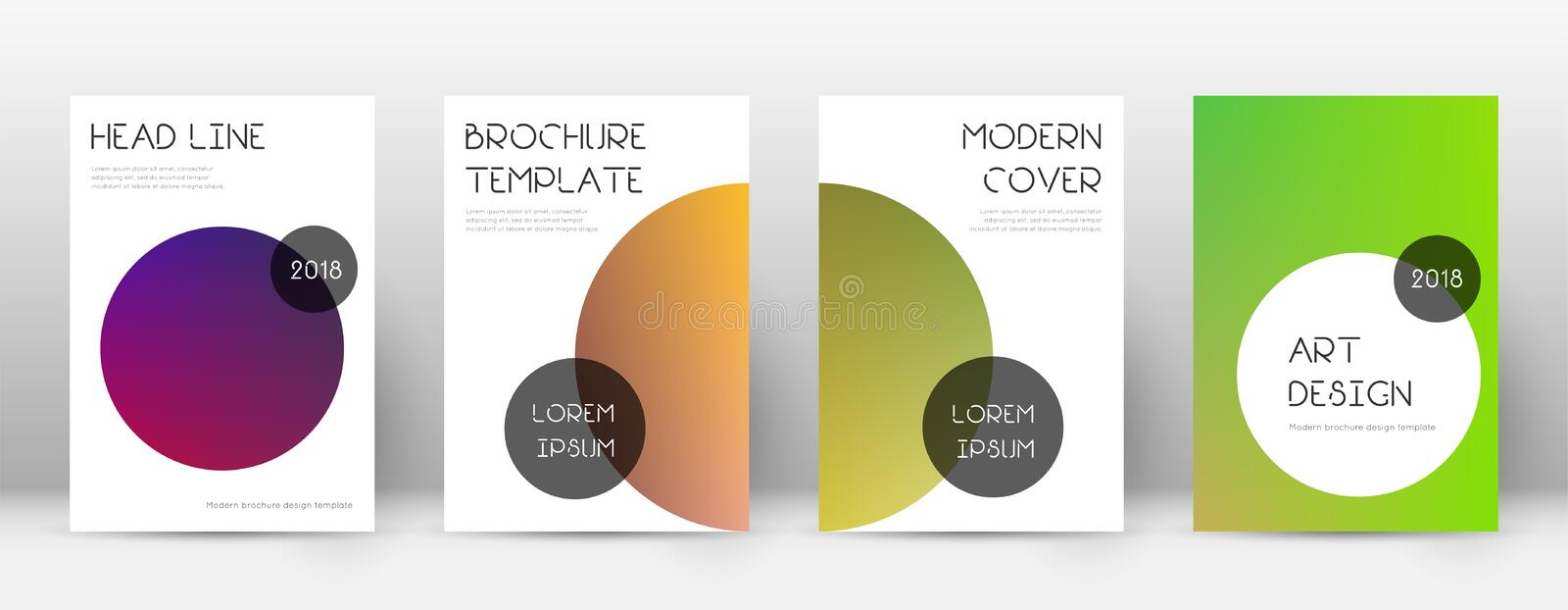 Flyer layout. Trendy wonderful template for Brochure, Annual Report, Magazine, Poster, Corporate Presentation, Portfolio, Flyer. Beauteous gradient cover page royalty free illustration