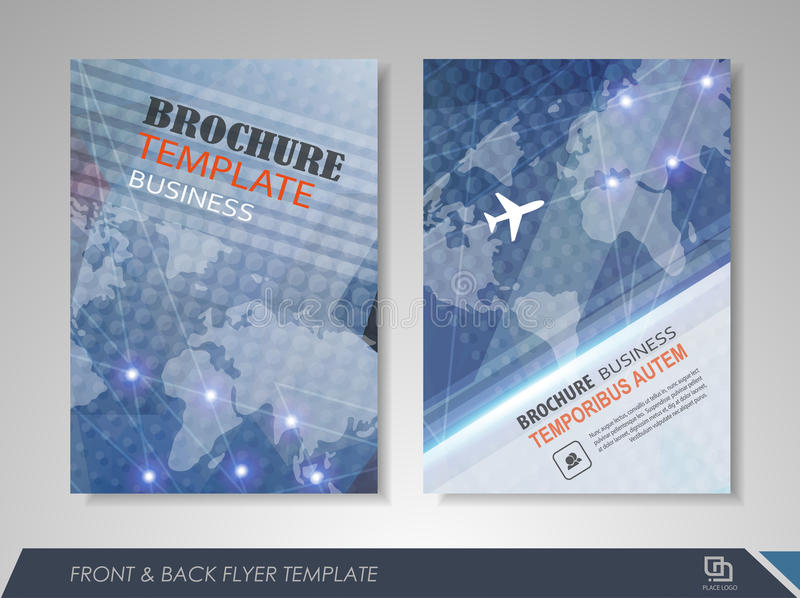 brochure front cover design - flyer magazine cover brochure business stock vector