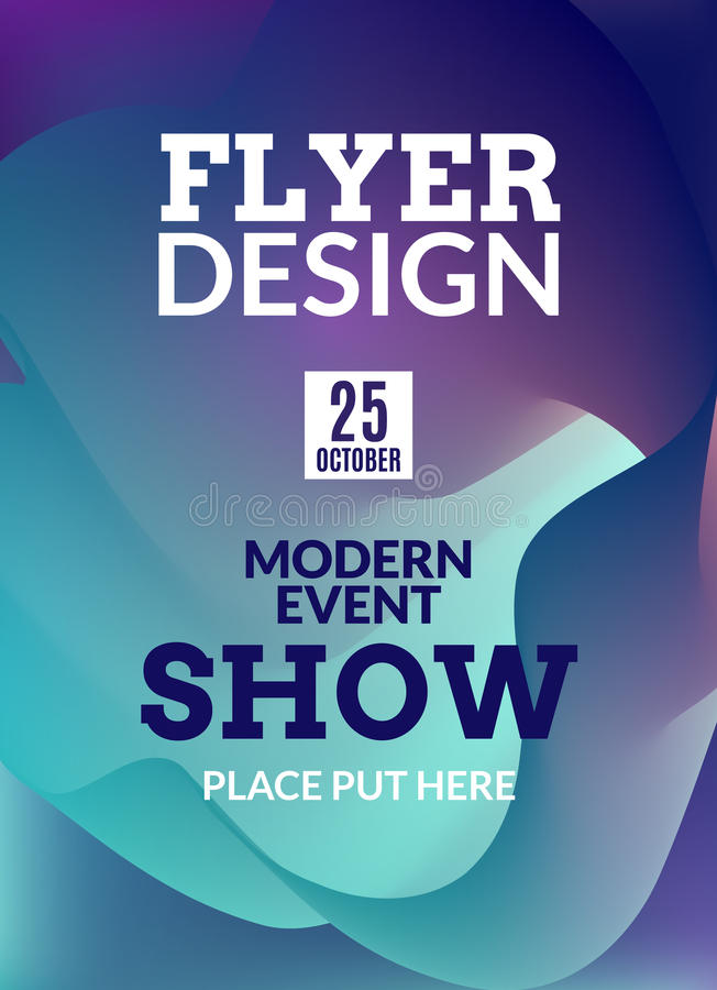 Flyer Music Background Poster. Event Show Design Template ...