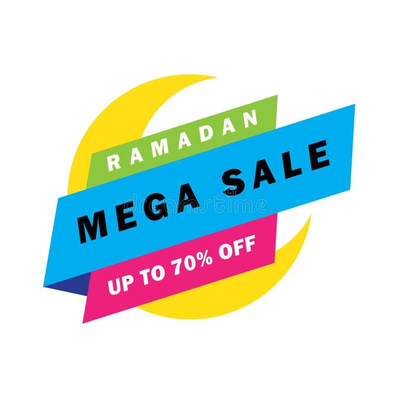 Flyer, Sale, discount, greeting card, label or banner occasion of Ramadan Kareem and Eid Mubarak Celebration vector illustration