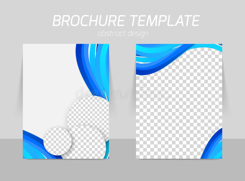 Flyer template back and front design royalty free illustration