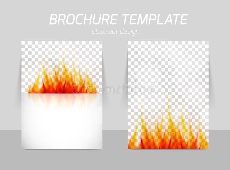 Flyer template back and front design stock illustration