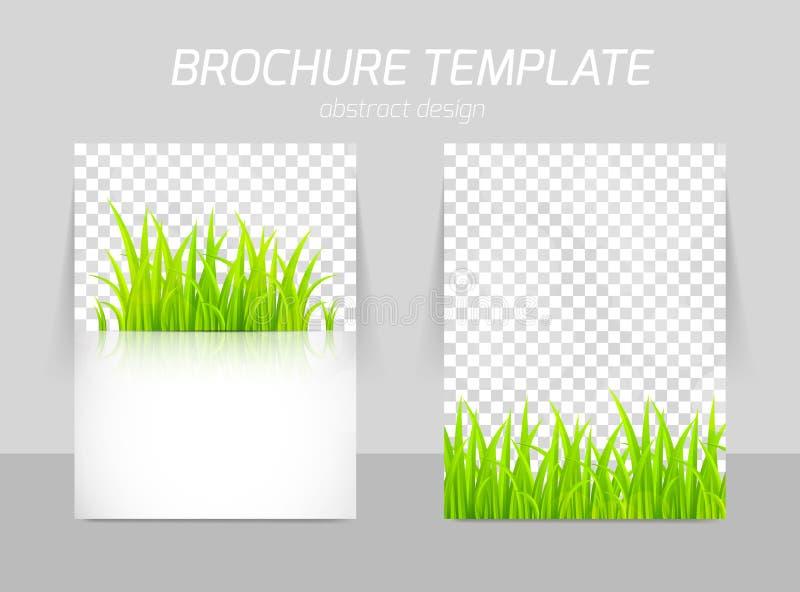 Flyer template back and front design vector illustration