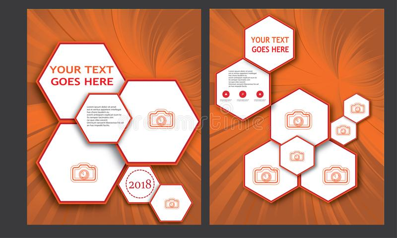 Flyer Template Brochure Template Business Template Annual Report Book Cover Page Layout Leaflet Booklet Letterhead Magazine royalty free illustration