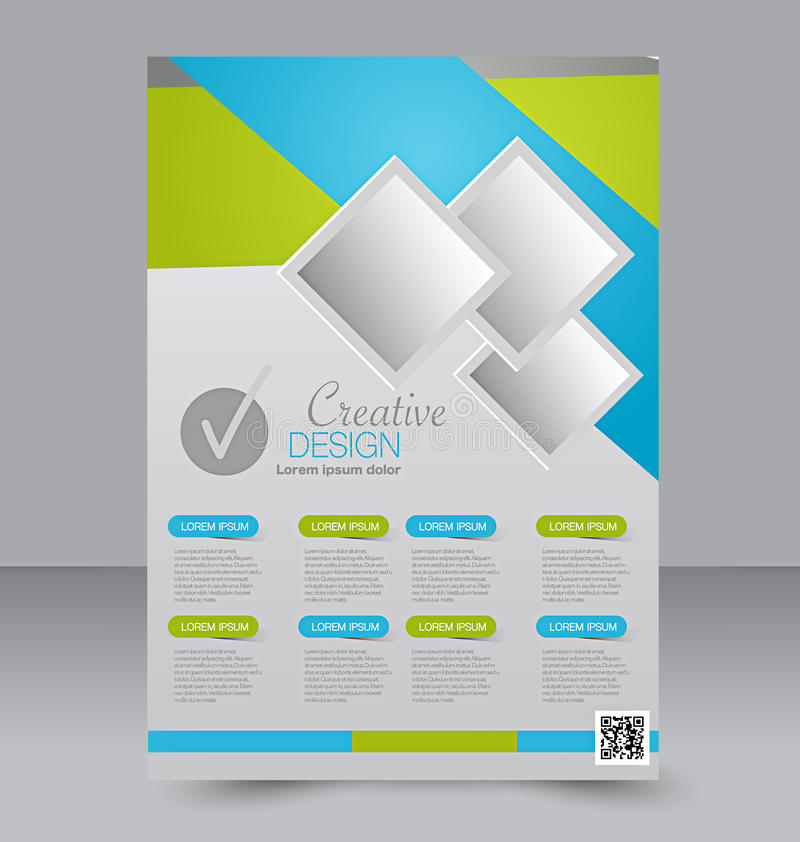 Flyer Template Brochure Design A Business Cover Stock Vector